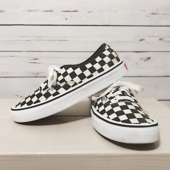 Black And Cream Checkered Vans | Poshmark